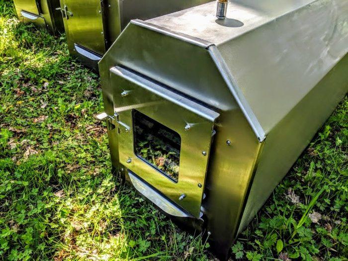 Buiten Roestvrij Staal Kachel Voor Hot Tubs, Octagon Model (13)