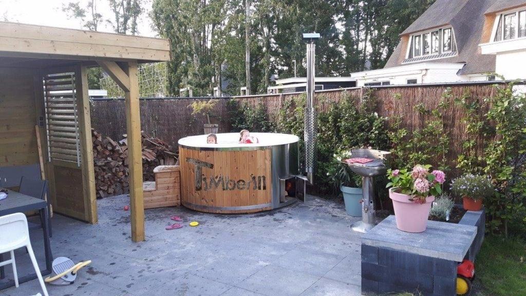 Hottub Fiberglas Met Geintegreerde Kachel Thermohout Wellness Royal, Klaas, Naarden, Netherlands (2)